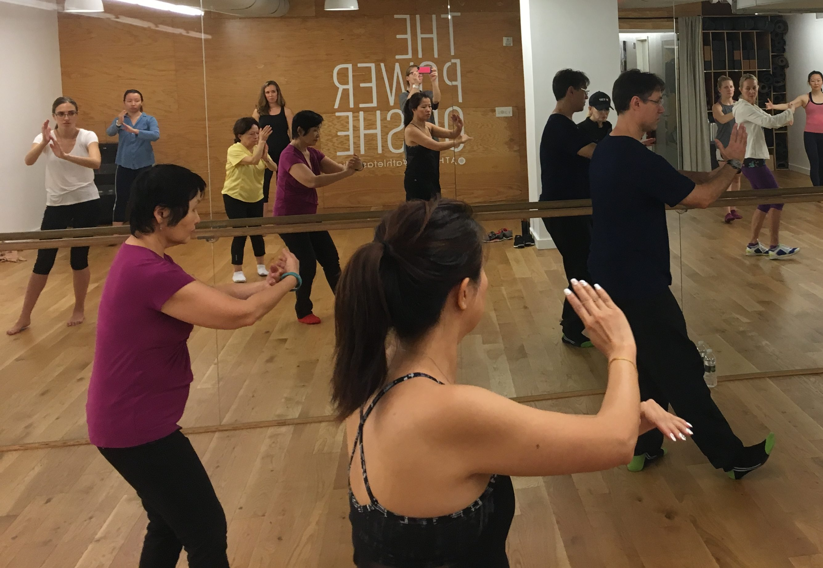 Athleta Flatiron NYC New York Tai Chi Instructor Bill Pagano Teaches Class