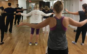 Bill Pagano teaching Tai Chi classes in the Studio at Athleta Flatiron in New York City, New York.